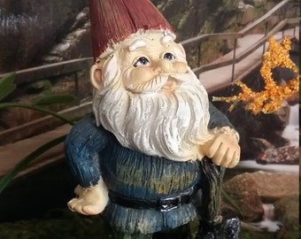 Fairy Garden Miniature  Garden Gnome for your Fairy Garden, Gnome with Shovel, Miniature Gnome, Wood Like Gnome