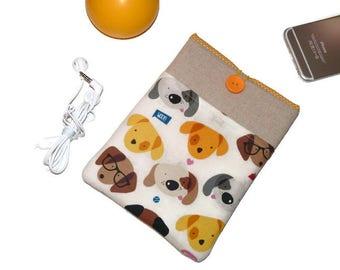 "Macbook sleeve, dogs, 15 inch Macbook case, 15"" Macbook pro retina sleeve, 15"" macbook pro retina cover, macbook 15 sleeve, Laptop case 14"""