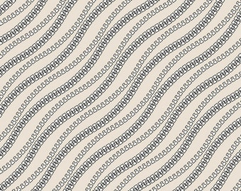 Art Gallery Make Closures in Crude - Fabric By The 1/2 Yard - Cotton Spandex Knit - Cotton Knit Fabric