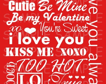 INSTANT DOWNLOAD...8x10 Valentine's Day Subway Art Print... DIY Print Yourself