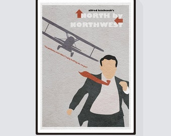 North by Northwest Minimalist Alternative Movie Print & Poster