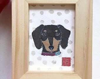 Dachshund Art, Weiner Dog Gifts, Dachshund Decor, ACEO Original