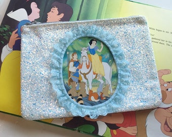 Snow White happily ever after glitter clutch