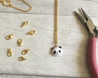 Panda necklace, animal lover panda bear, animal necklace, panda charm, panda jewellery, panda gifts, zoo animals, etsy uk, cute necklace,