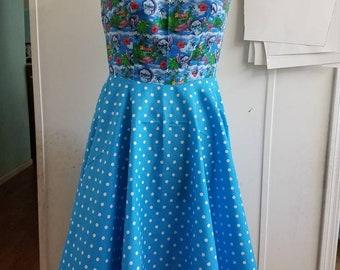 Lilo - and - stitch - hawaiin - disney - boatneck  - boat - neck - pinup - rockabilly - rockabella -  flirty - swing - style - dress