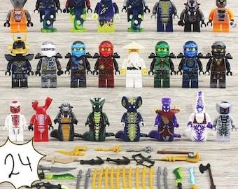 24 miniature Figurines Ninjago Acidicus, Slithraa, Fangdam, Skalidor, Pythor, snakes, new