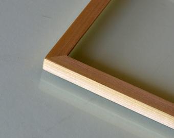 "BASIC Picture Frame - Natural POPLAR Solid Hardwood Gallery Wall Frames - Choose medium size 8x8, 7x9, 8x10, 9x9, 8x12, 8.5x11, A4 8.3x11.7"""