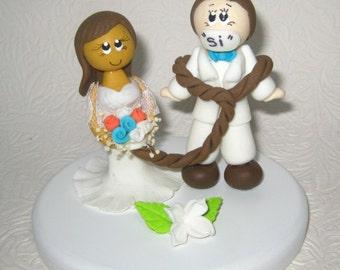 African wedding cake topper