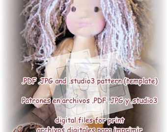 Pattern. PDF 20 in Waldorf Inspiration Doll (50 Ctms).