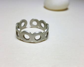 Infinity Ring, Wrap Ring, Adjustable Geometric Ring, Layering Rings, Adjustable Boho Ring, Boho Rings Sterling Silver, Wrap Rings for Women