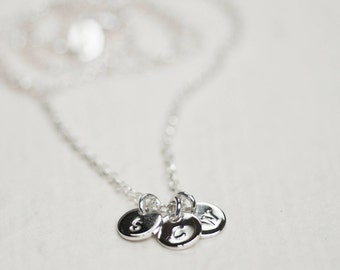 Customised silver Necklace, Personalised Silver Necklace, Initial Necklace