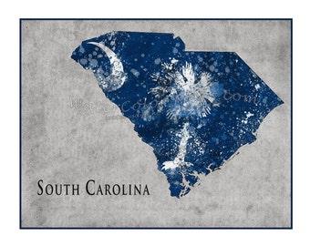 SOUTH CAROLINA Map,Charleston, South Carolina, Map of Charleston, SC, Carolina, Palmetto tree