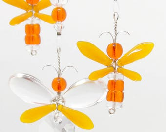 Halloween Window Decoration Orange Firefly Mobile Kids Birthday Gift Dragonfly Ornament Present For Any Occasion Cheerful Baby Shower Decor