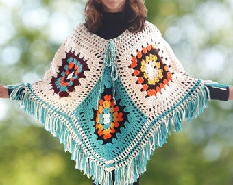 Hand Knit Ponchos with Wool