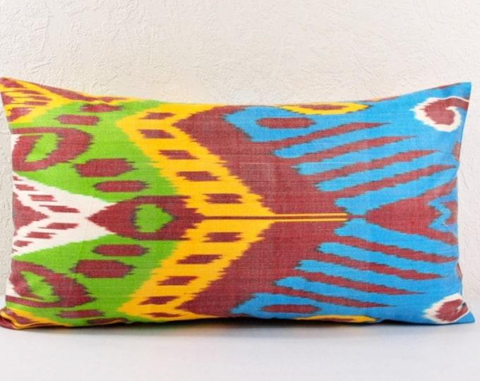 Ikat Pillow, Hand Woven Ikat Pillow Cover  lip116, Ikat throw pillows, Designer pillows, Decorative pillows, Accent pillows