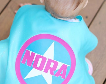 PERSONALIZED Baby SUPERHERO Cape - Baby Superhero Costume - Lots of color combinations - Birthday gift - Photo prop - Baby Costume