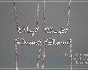 Name Necklace-Personalized Name Necklace-Custom Name Gift-Your Name Necklace-Bridesmaids-Birthday -Children Names-Tiny-Mini necklace. #MNF19
