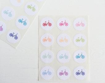 tiny starburst stickers - bikes