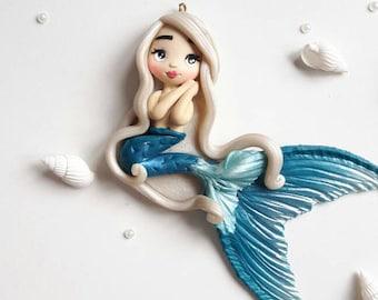 OOAK mermaid / Siren keychains / bagcharm or pendant