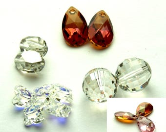 Crystal beads | different sizes and colours | jewelry making