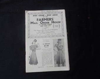 LAST CHANCE  Vintage 1941 Farmers' Mail Order House Catalog  Clothing,Housewares,Etc.  1907