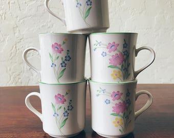 Sango Fresh Flowers Mugs (Set of 5)