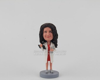 Doctor Bobblehead Custom Bobbleheads - Great Gifts for CoWorker, CoWorker Gift Idea, Unique CoWorker Gift, Coworker Gift for Women