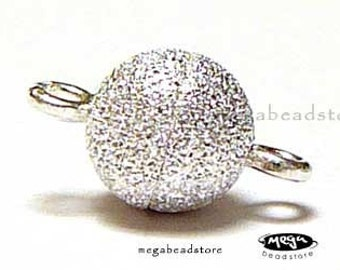 6mm  Ball Magnetic Clasp Stardust 925 Sterling Silver F284