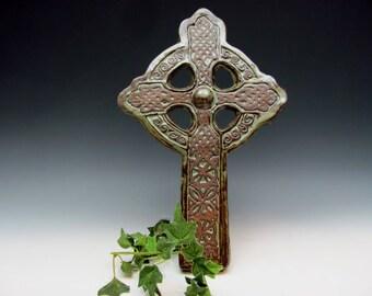 Large Celtic Cross with Knots and Motifs Irish Home Baptism Gaelic Ireland Christian Housewarming Church Catholic
