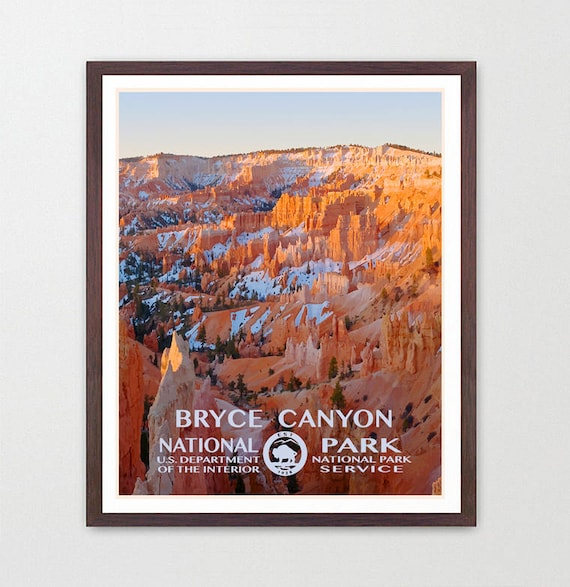 Bryce Canyon National Park - Bryce Canyon Poster - Bryce Canyon National Park Art - National Park Poster - WPA - WPA Poster - WPA Art - Utah