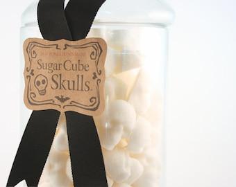 Sugar Skulls Large Apothecary Jar, Sugar Cube Skulls Nightmare Before Chistmas Celebration