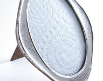 Oval Silver Oak Backed Photo Frame 1916