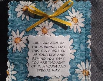 Floral Friendship Tea Pouch, Poem & Tea Bag