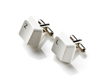 Customizable Keyboard Key Cufflinks - Choose Your Letters