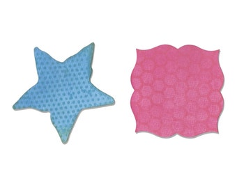 Sizzix Movers and Shapers Magnetic Die Set 2PK - Label & Starfish by Sharyn Sowell