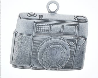 """Camera charm Classic Silver Camera Charm, size 1 3/8"""" W x 1 1/4"""" h made in USA 03589CS"""