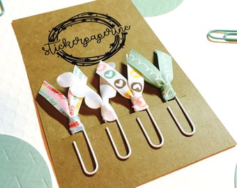 Ribbon Planner Clips Paper Clips Bible Journaling Spring Easter Sweet Sunny Ribbon  • Set of 4