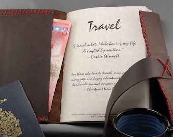 Deluxe Custom Leather Travel Journal