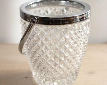 Retro glass ice bucket
