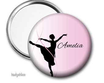 Ballerina personalised Pocket mirror, purse mirror