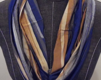 Abstract Brush Stroke Stripe Print Infinity Scarf.Gift For Mom,Daughter,Sister,Friend.Circle Scarf.Tube Scarf.