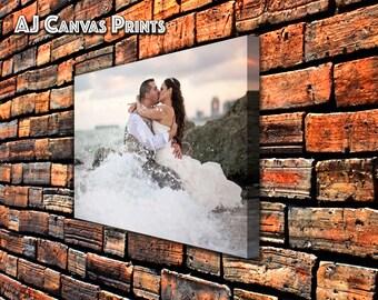 Personalized wedding canvas photo print