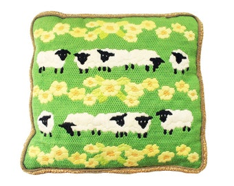 Embroidered Sheep Pillow
