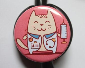 Kawaii Doctor CAT----Stethoscope ID Tag