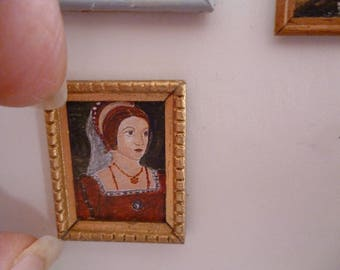 One 48th Scale prints A Tudor style print of Catherine Howard , Henry VIII's unfortunate  5th wife .
