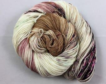 hand dyed sock yarn, Speckle City NEAPOLITAN, superwash merino wool and nylon, 4 ply