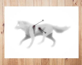 Wolf downloadable Digital Art Illustration watercolor Animal JPG