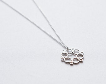 Sterling Silver or 14K Yellow or Rose Gold Flower Pendant