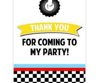 PRINTABLE Race Car Party Gift #Tags - #DIY / #DIGITAL File