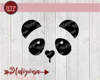 Panda Face SVG cut File